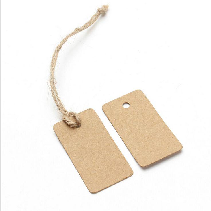 100Pcs New Brown Kraft Paper Tags Label Luggage Wedding Note DIY Blank price Hang tag Kraft Gift Wholesale