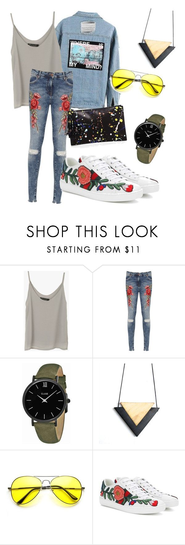 """""""outfit#103"""" by alifia-fae on Polyvore featuring WearAll, CLUSE, Gucci and Loeffler Randall"""