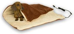 Heated Pet Throw Blanket - Designed for dogs and cats to lay on, verses human heating blankets that are designed to lay under. The perfect warm spot for pets at home or on the road, the Thermo-Pet Throw is a soft and cozy thermostatically controlled blanket, pad or nest for your pet. 102°F is the ideal body temperature for cats and dogs. Since a pet's fur acts as an insulator, K products have a thermostat that senses when the unit reached this temperature and maintains it for maximum…