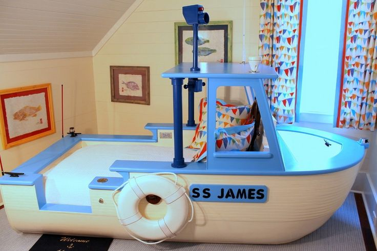 Little boy boat bed custom made it floats we do for Best bedroom designs ever