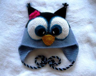Шапка Сова детская прикольная шапка с ушками вязаная крючком купить  Смешапки…
