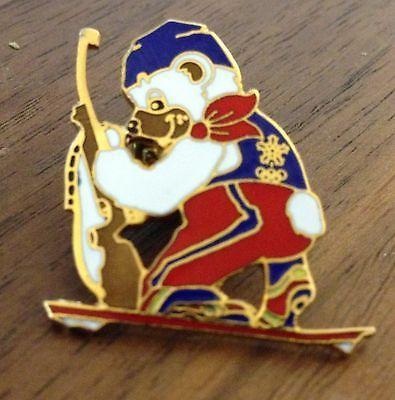 Calgary 1988 Biathlon Mascot Olympic Pin