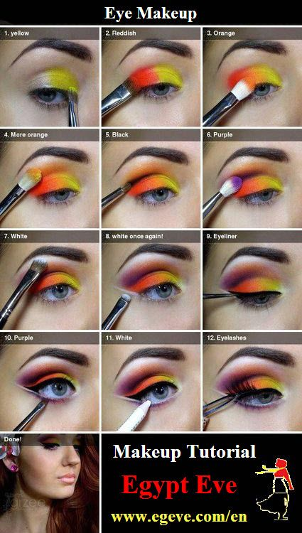 Makeup Tutorial - Eye Makeup. Would also make a really good girl on fire look