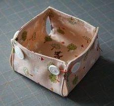 Caixa Pequena de Tecido Passo a Passo