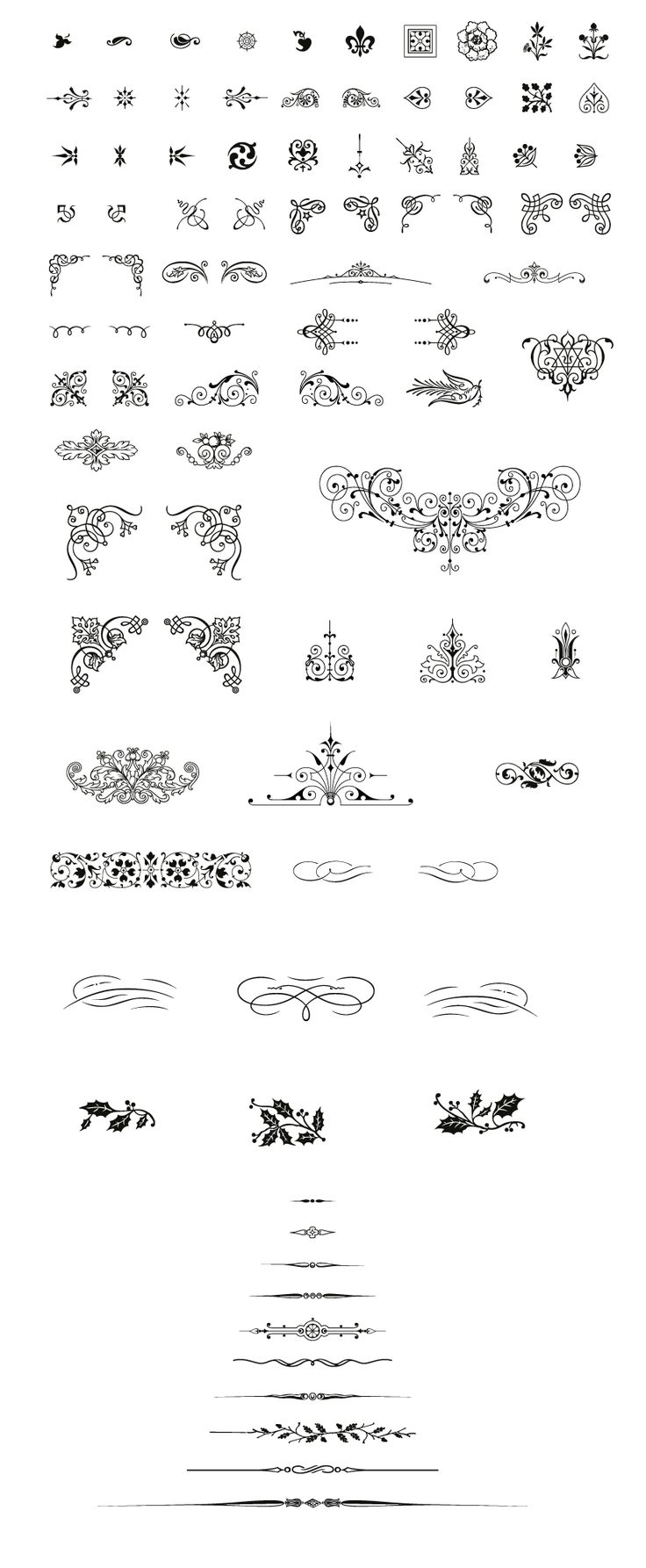 Free Vintage Vector Pack, 85 Vector Decorative Ornaments included, 18 Vector Frame Borders for Illustrator CS included. Free pack for any commercial work.