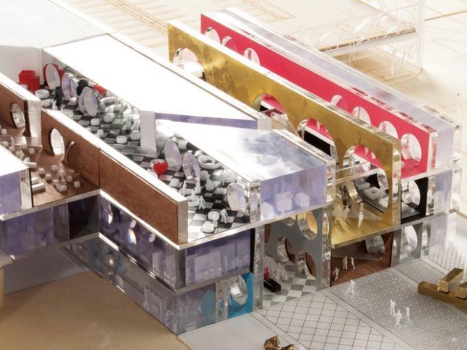 Las galerías tienen funciones múltiples, tanto culturales como comerciales. Sala de Exposiciones, Kuwait, Por OMA.