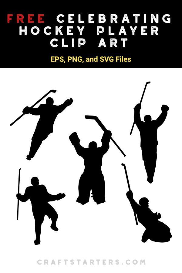 Free Celebrating Hockey Player Silhouette Clip Art Hockey Players Silhouette Clip Art Hockey