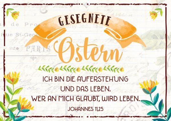 2 x 6 Minikarten mit Ostermotiv und Bibeltext Format 7,2 cm x 10,5 cm (halbe Postkartengröße) zum Verteilen und Verschenken gemischte Serie mit 2 x 6 Minikarten Bibeltext nach Lukas 24,34: Der Herr ist auferstanden. Er ist...