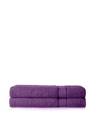 58% OFF Espalma Set of 2 Ambassador Bath Sheets (Purple)