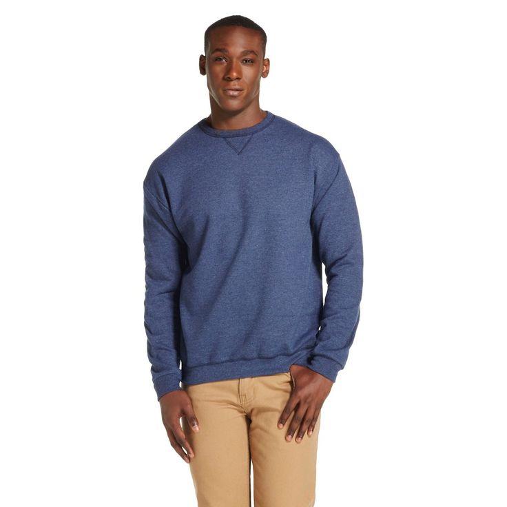 Hanes Men's Premium Activewear Sweatshirt - XX-Large - Heathered Deep Navy, Size: Xxl