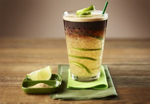 Caipirinha coffee  Zesty sweet lemon iced Grand Cru and shapely rich flavour for a touch of Brazilian cool.