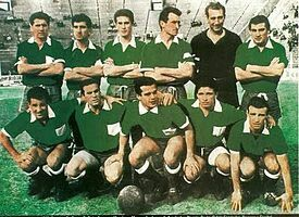 Ferro Carril Oeste of Argentina team group in 1963.