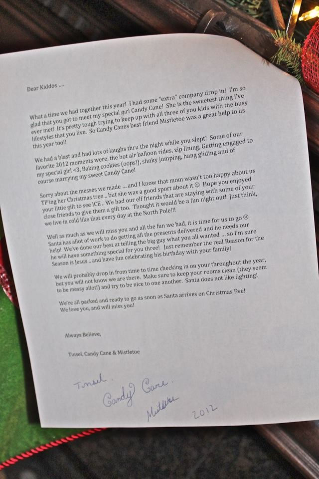 Goodbye letter from our elves ;)
