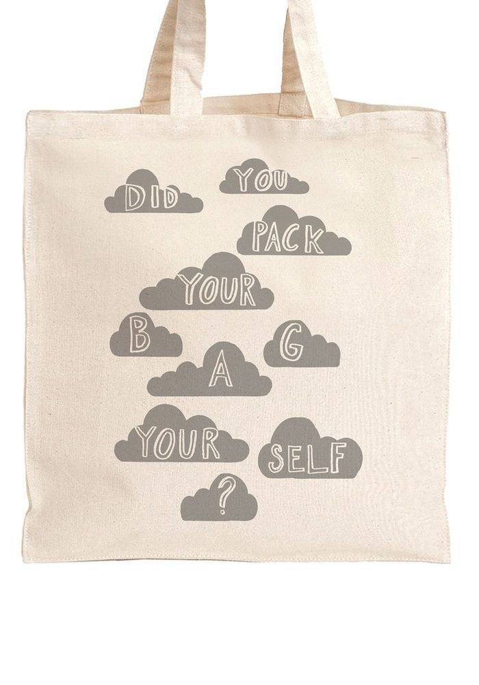 Designed by Karin Akesson, produced and printed in the Uk.  Heavyweight natural white 100% cotton bag screen printed with black ink.  Size: w38cm x h42 cm with mid-length handles.