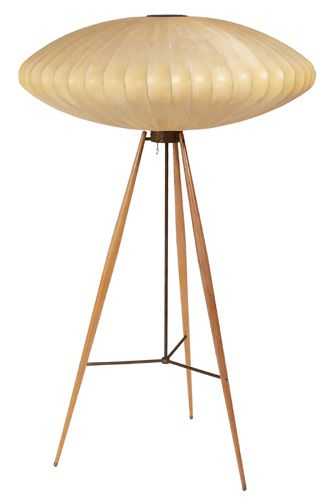 George Nelson - Rare bubble lamp with stand for Howard Miller.