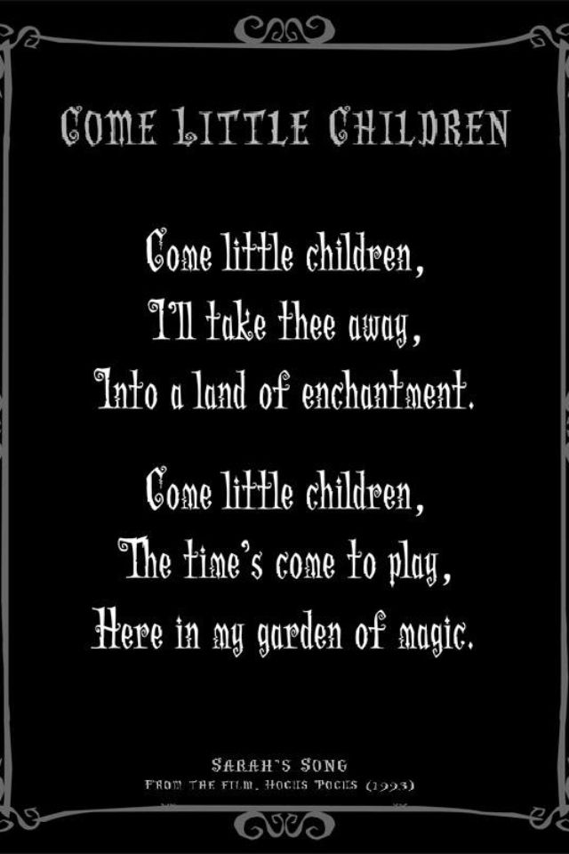 Sarah's Song from Hocus Pocus