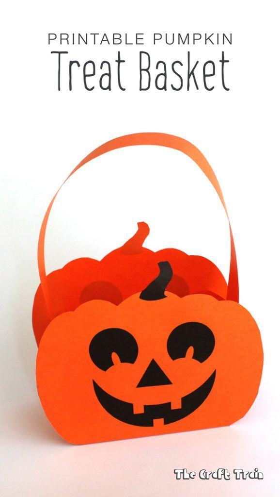 Halloween Paper Pumpkin Basket Printable