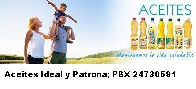 Aceites Ideal y Patrona de Guatemala, puedes solicitarlos a Comprabien Food Service de Guatemala. PBX 24730581.  www.comprabien.supersitio.net  cchcomprabien@gmail.com