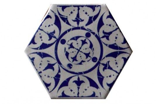 Souk Sapphire Hexagon Tiles 15x15cm