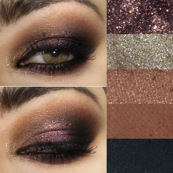 plum and copper eye makeup