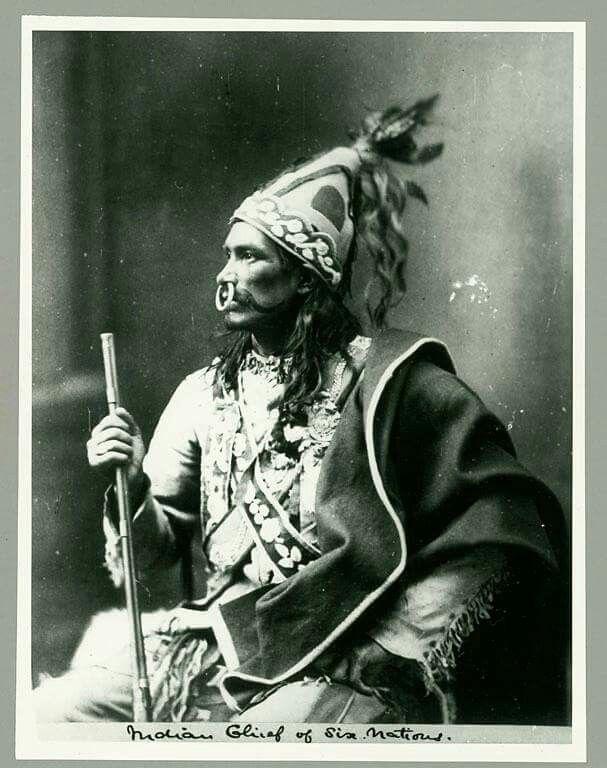 Iroquois man. 1871.