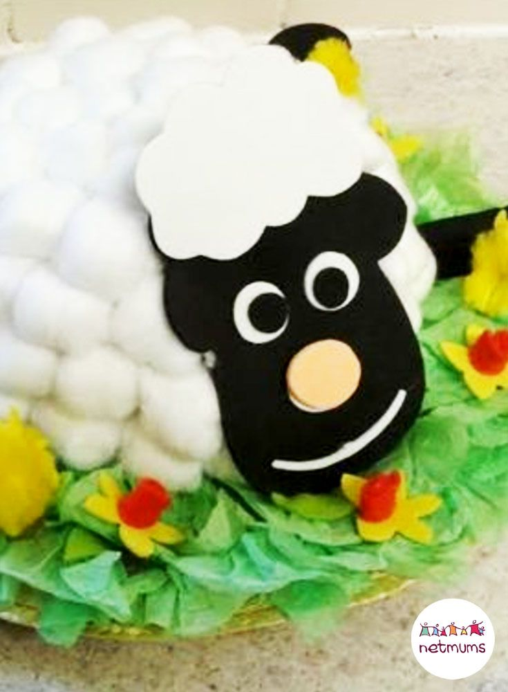 Cotton wool sheep, a great alternative Easter bonnet idea. Struggling for Easter bonnet ideas for boys? We've got 25 brilliant bonnet ideas for you to make, featuring everything from dinosaurs to Batman.