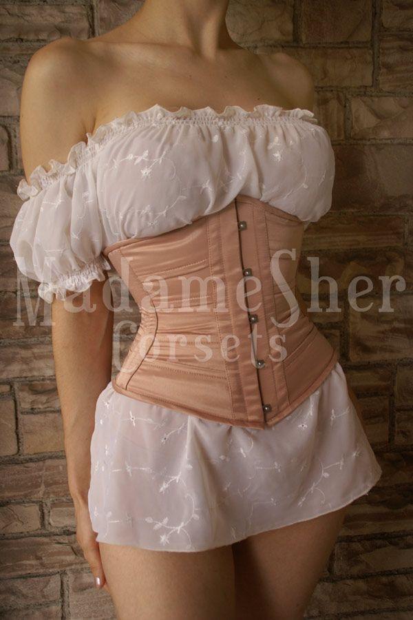 Madame Sher Corsets » Tight Comfort * Estilo Ribbon Crepe Nude R$ 580,00