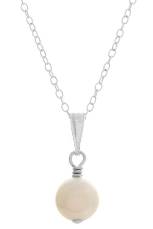 Hepburn pendant - simple pearl bridal pendant available in Swarovski pearls or freshwater pearls from Lou Lou Belle Designs http://www.louloubelle.co.uk/pendants_bridal.html#