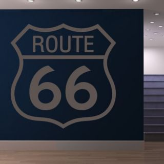 Наклейка для дома от 2stick.ru Знак Трасса 66 Route 66