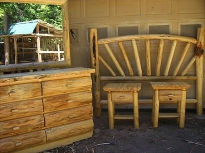 Log Furniture Bedroom Sets Our aspen log bedroom furniture comes
