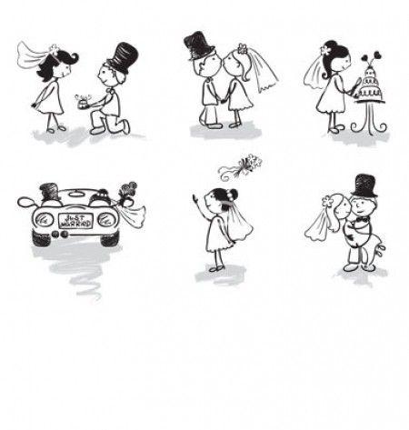 Dibujo tarjetas de boda - Imagui