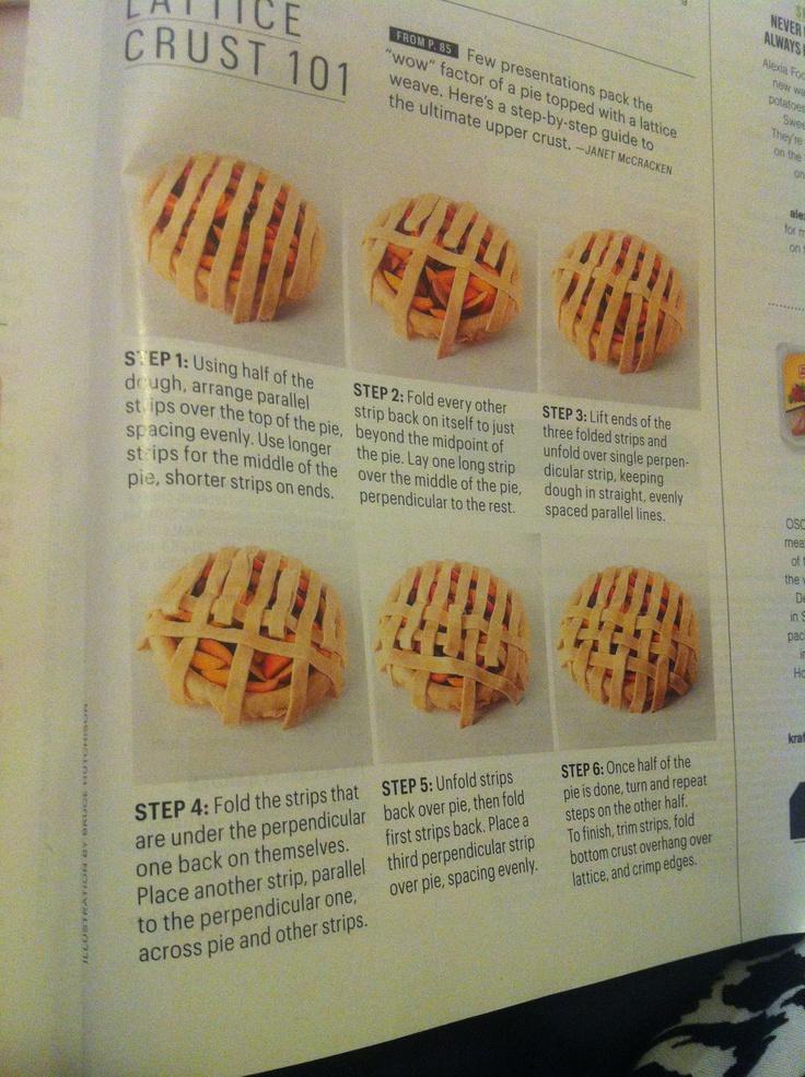 Lattice crust 101 Bon appetit August 2011 | pie crusts | Pinterest ...