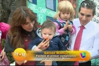 Galilea Montijo celebra a su hijo Mateo