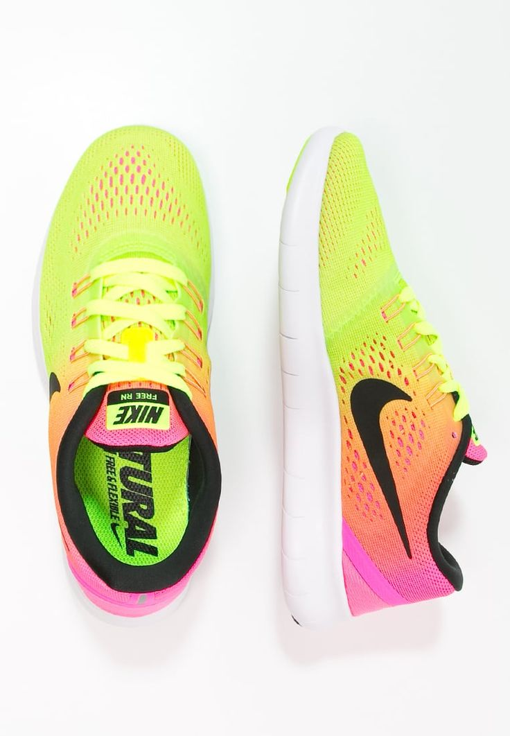 Nike Performance FREE RUN - Chaussures de course neutres - bunt/weiß - ZALANDO.FR