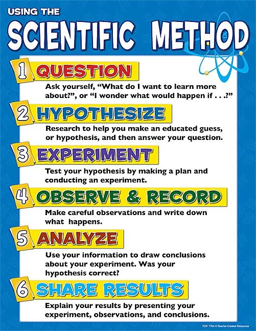 Scientific Method Chart - Good for Science Notebook