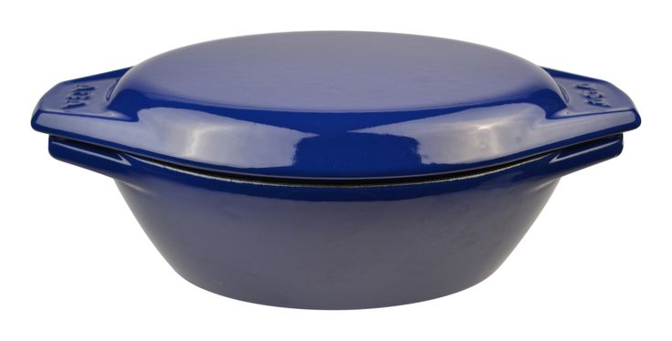 2.5L cast-iron casserole dish in blue. Receive 25 per cent off this product for the month of February 2014!