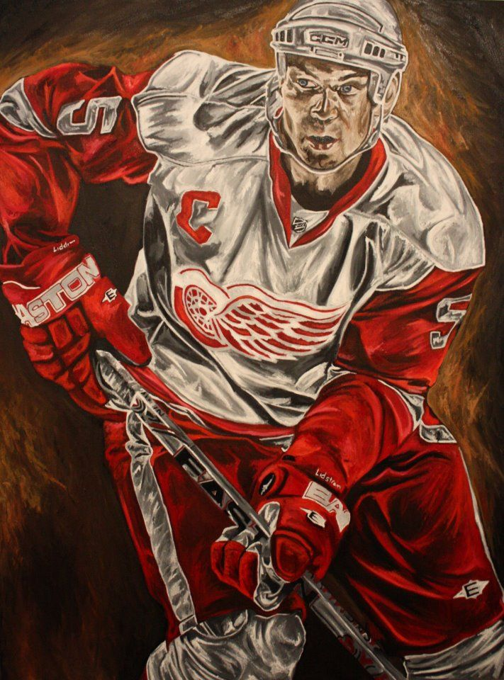 Dave Courson's painting of Nicklas Lidstrom: Favorite Red, Hockey Paintings, Red Wings Xx, Wings Accessories, Red Wingxx, Wings Hockey, Detroit Redwingz, Hockey Decor, Detroit Hockey