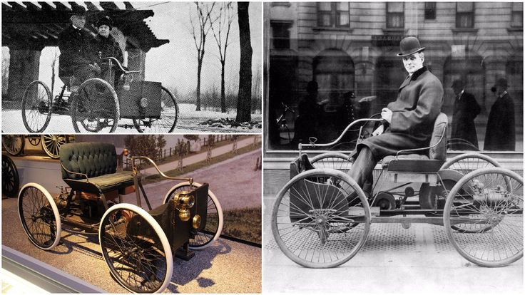 """Built in a shed behind the house in 1896, """"The Quqdricycle"""" is the first car built by Henry Ford"""