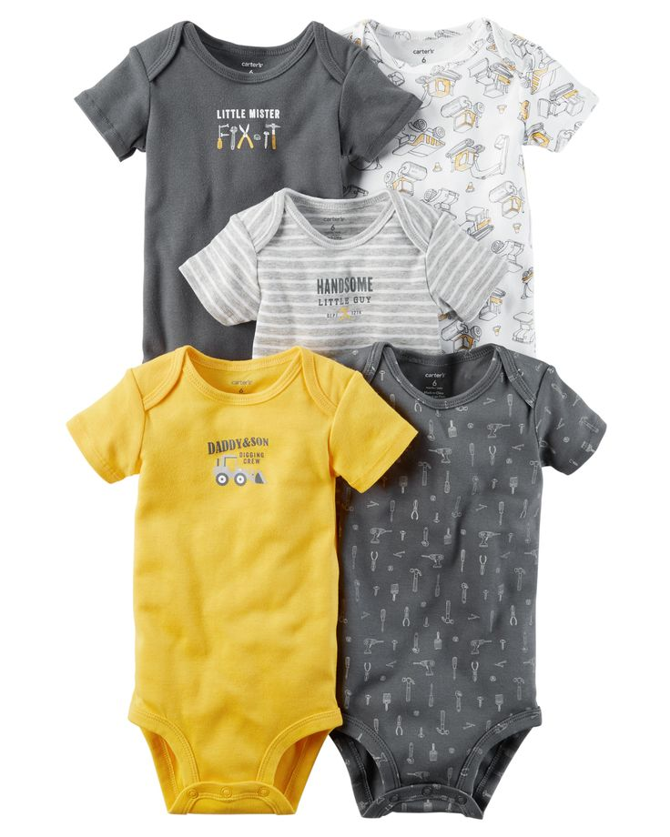 Baby Boy 5-Pack Short-Sleeve Original Bodysuits   Carters.com