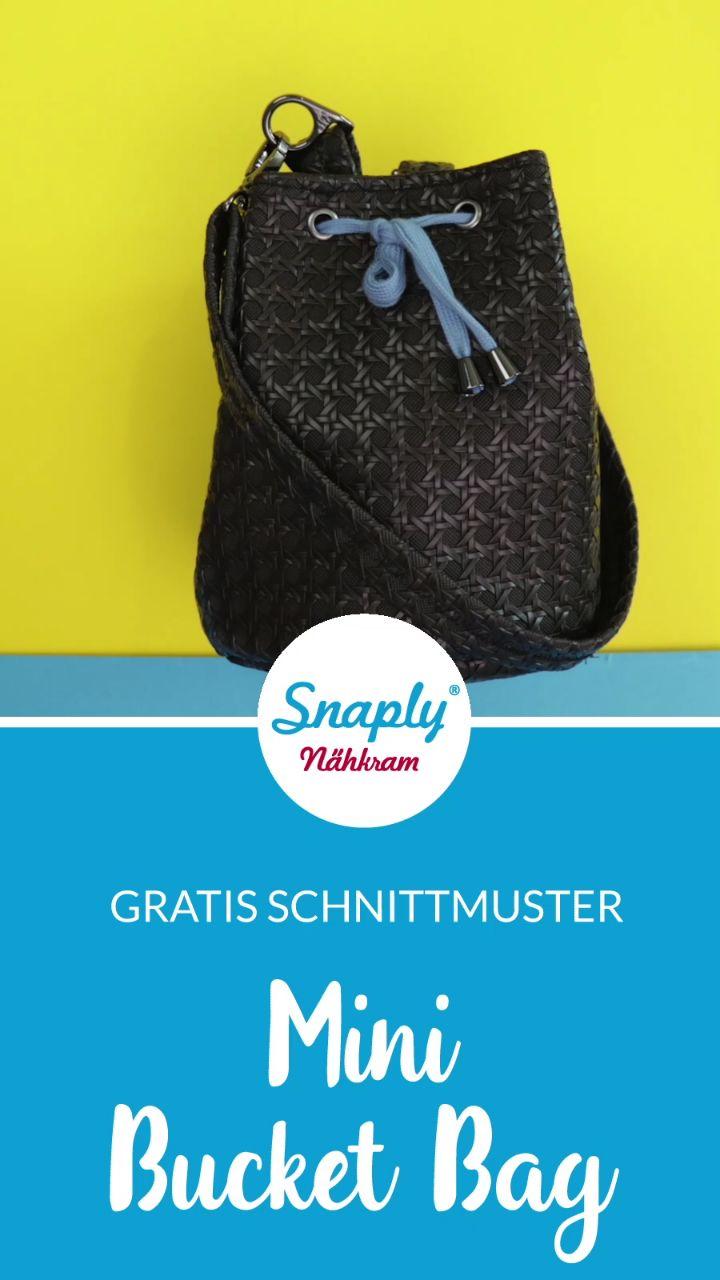 Kostenloses Schnittmuster: Mini Bucket Bag nähen