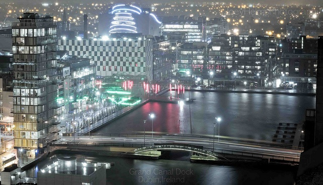 Grand Canal Dock - Dublin@Night, via Flickr.