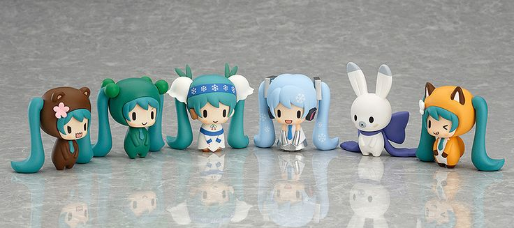 Nendoroid Plus: Capsule Factory ~Snow Miku and Friends from the North~ SEASON 1 | Snow Miku is back with a bunch of cute friends made in the image of animals found in the Winter of Hokkaido! Each of the figures are based on cute designs by illustrator Kiriku, creating a lovely line-up filled with adorable variety! | Sched. Release Date: 2015/02 | I might just die from all the cuteness!