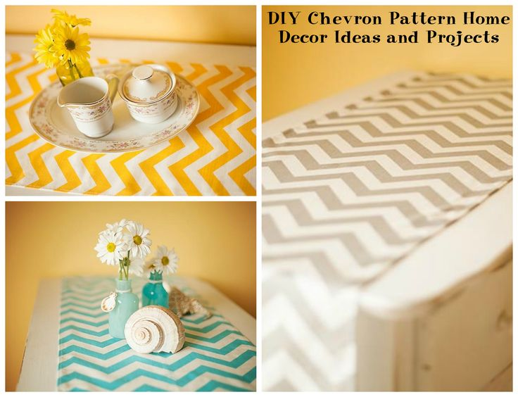 DIY Chevron Pattern Home Decor Ideas and Projects