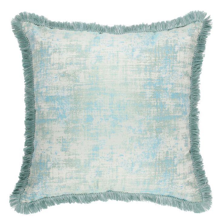 cushion benti sheen turqoise 55x55cm