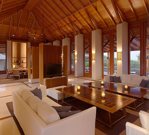 AMANYARA villa living & dining pavilion. #amanyara #turks #caribbean #island #travel #secret #escapes amanyara.com
