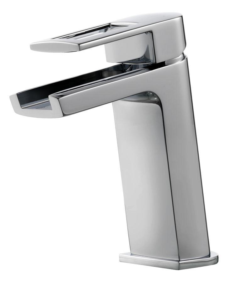 <p>Tvättställsblandare med vattenfallsflöde, öppen pip.</p>