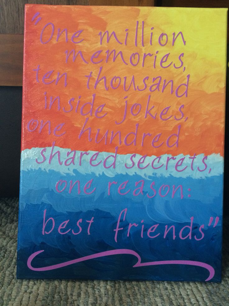 Best Friends For Frosting: 1000+ Ideas About Best Friend Canvas On Pinterest