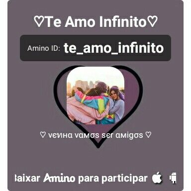 Aqui está um convite para o meu Amino— ♡Te Amo Infinito♡ http://aminoapps.com/c/te_amo_infinito