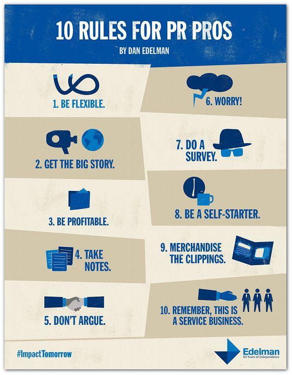 Die 10 PR-Regeln von Dan Edelman   http://www.ethority.de/weblog/2012/10/02/10-pr-regeln-edelman/