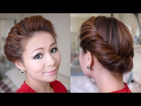 Quick Updo Hairstyle for Long Hair: The 2 Minutes Spring Twist Hairstyle (Tutorial) - Easy Girls Hairstyles